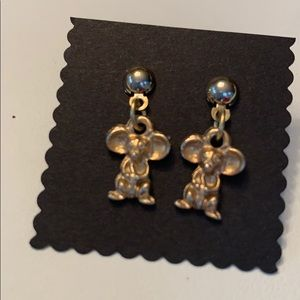Vintage Tiny Mouse Earrings